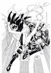 Batgirl and Deathstroke