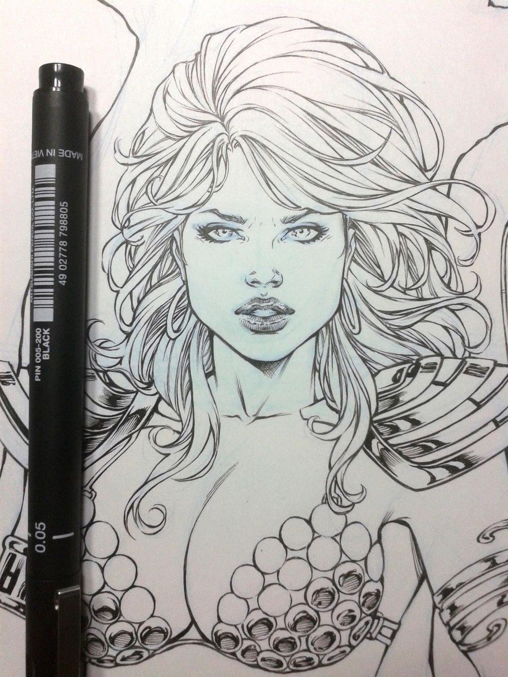 Red Sonja Wip by Leomatos2014