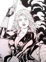 Black Widow wip by Leomatos2014