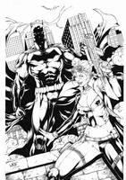 Batman and Harley Quinn by Leomatos2014