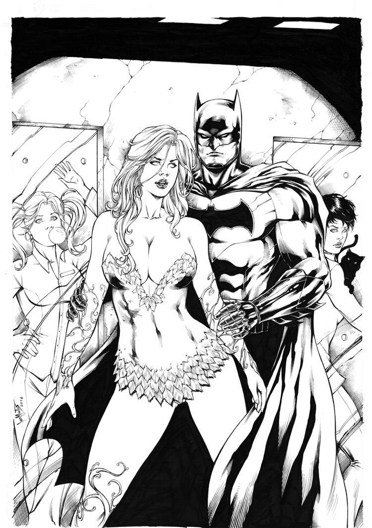 Batman and sirens by Leomatos2014