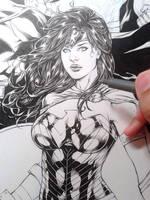 Wonder Woman Wip by Leomatos2014