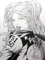 Harley Quinn WIP by Leomatos2014