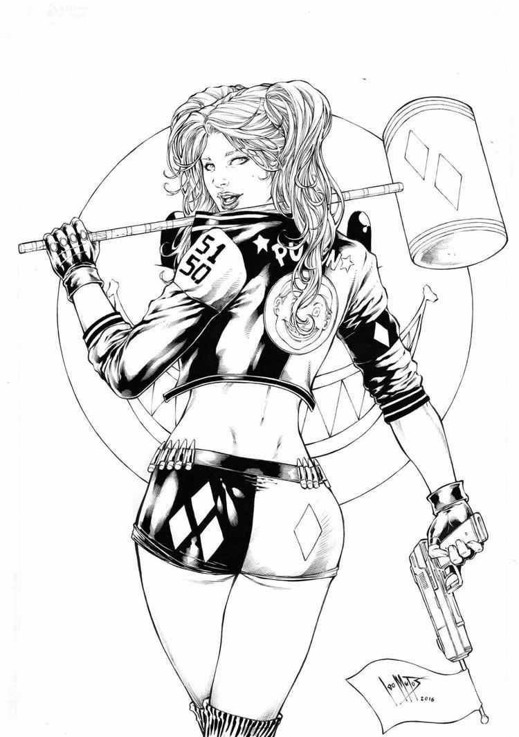 Harley Quinn by Leomatos2014