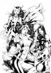 Rogue Scarlet Witch and Psylocke