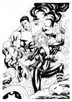Hulk and Black Widow by Leomatos2014