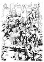 THOR Unworthy THOR and Valkyrie by Leomatos2014