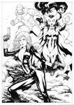 BlackWidow Scarlet witch and Iron Man
