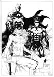 Batman Batgirl and Nightwing