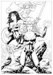 Mera Wonder Woman and Supergirl