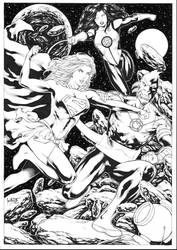 Supergirl Jessica Cruz vs Larfleeze by Leomatos2014