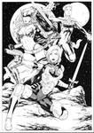 Gamora Angela and Captain Marvel