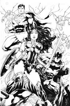 Wonder Woman Superman and Batman