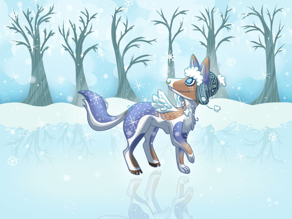 Commission: Look at the snowflakes by ccartsu