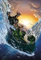 Hulk Vs Namor cover by DAVID-OCAMPO