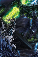 Hulk Vs Namor page one by DAVID-OCAMPO