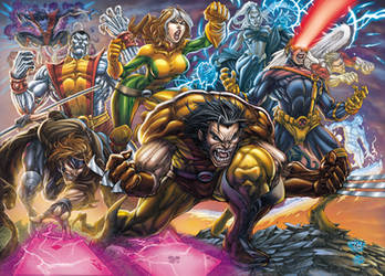 Wolverine and the X-men by DAVID-OCAMPO