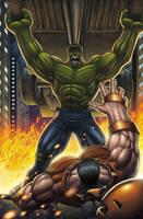Hulk Vs Juggernaut Colored by DAVID-OCAMPO
