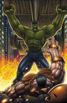 Hulk Vs Juggernaut Colored