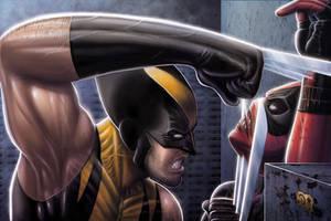 Wolverine Vs Deadpool by DAVID-OCAMPO