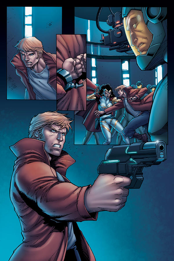 STAR LORD Test color page 1 by DAVID-OCAMPO