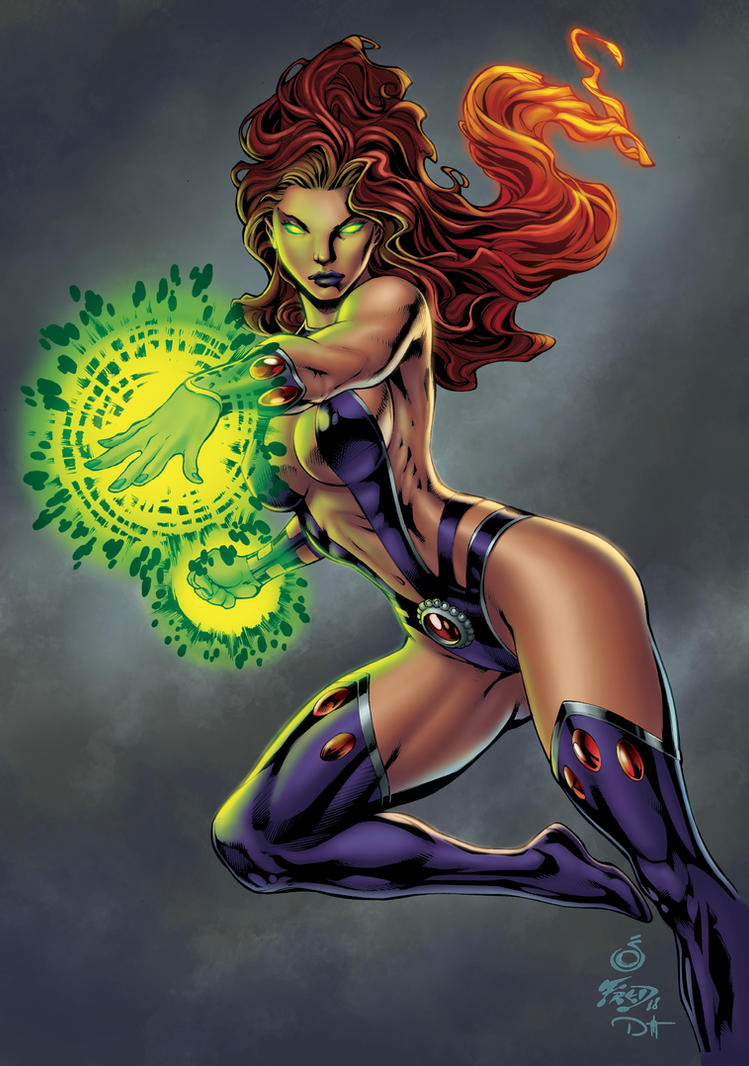 STARFIRE COLOR COMMISSION by DAVID-OCAMPO