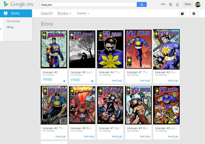 Kalayaan comics on Google Play Book Store by gioparedes