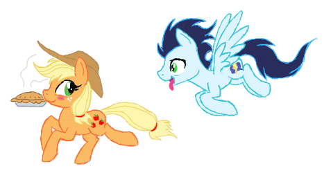 Applejack and Soarin by Kasun05