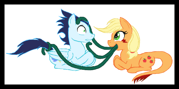 Soarin and Applejack by Kasun05