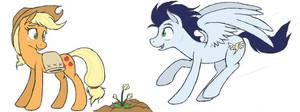 Applejack and Soarin