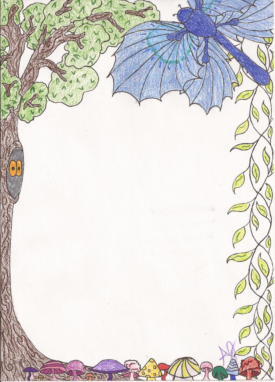 Nature Boarder colored... Plain Wallpaper