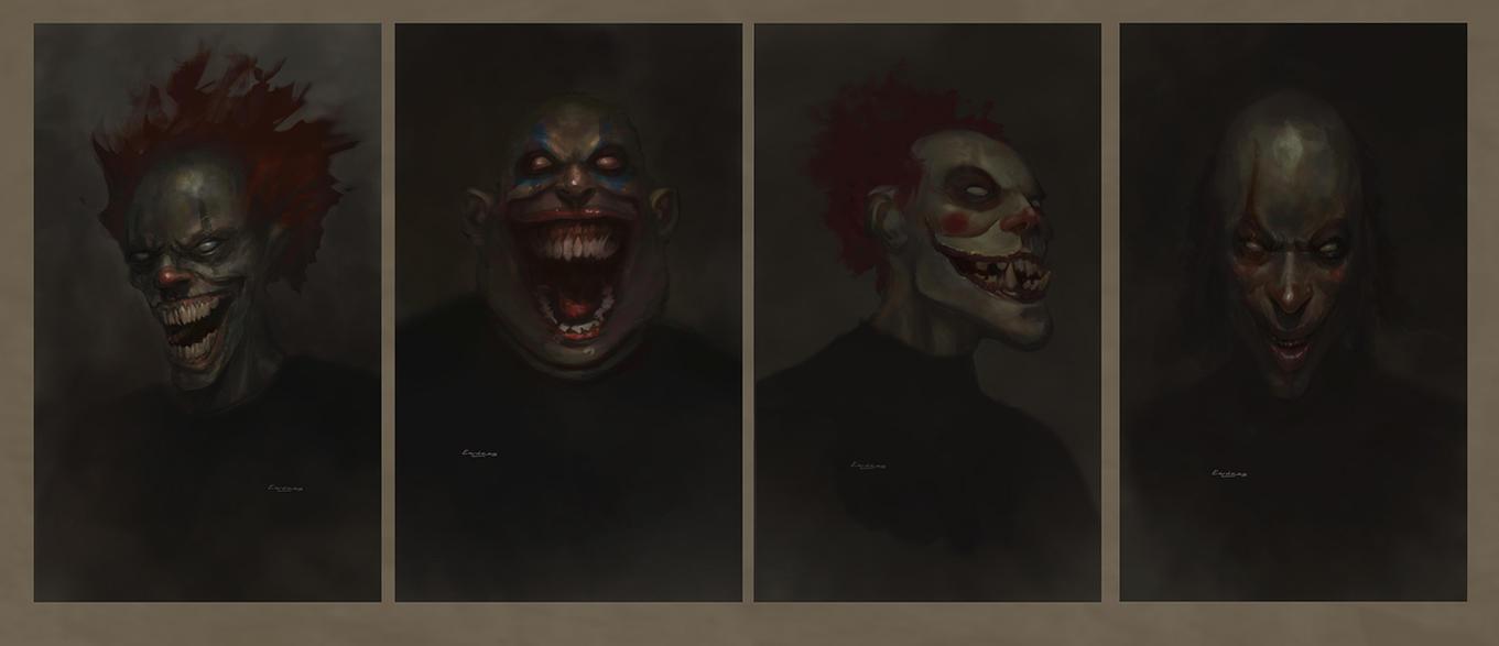 Evil Clowns sketches by kolokas