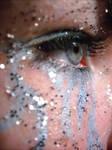 Blue Make-up and Glitter