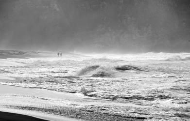 a walk at the beach by joe279
