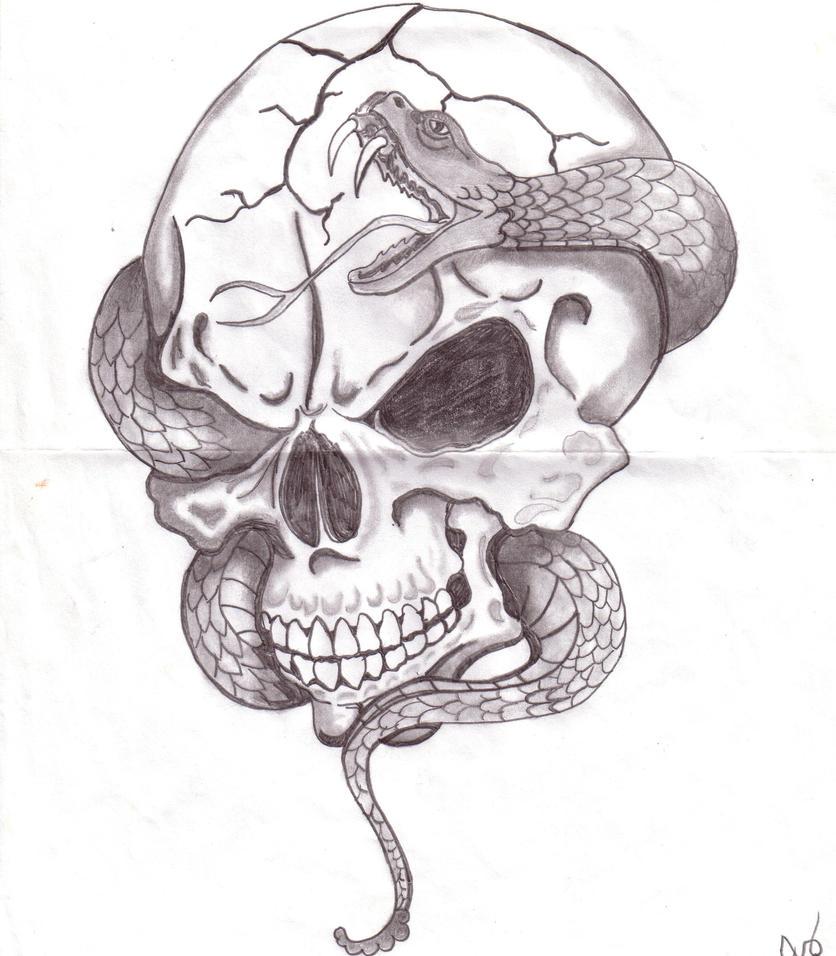 Skull with snake by glsellers1 on deviantart skull with snake by glsellers1 altavistaventures Images