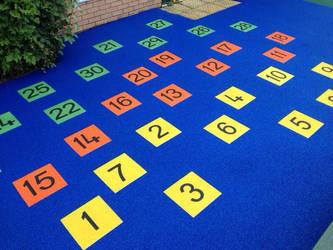 Playground numbers installation by PlaygroundMarkings