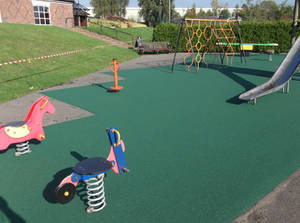 Play area surfacing maintenance