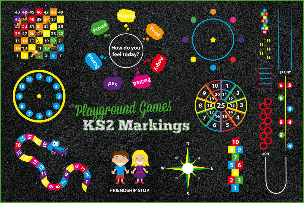 Playground Games Key Stage 2 Markings by PlaygroundMarkings on ...