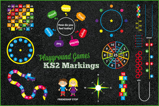 Playground Games Key Stage 2 Markings
