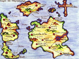 Map of the Archipelago Chaforar by Dionisante