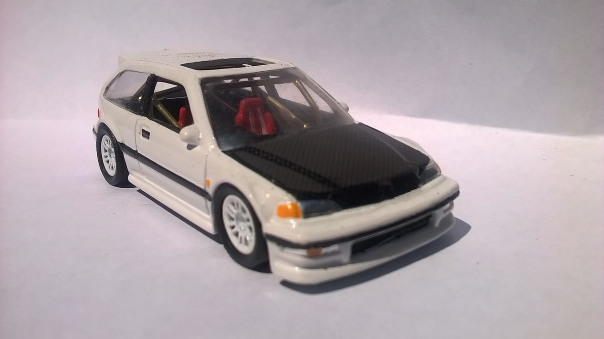 Custom Hot Wheels Civic CARBON FIBER HOOD by Pickles-xD on ...