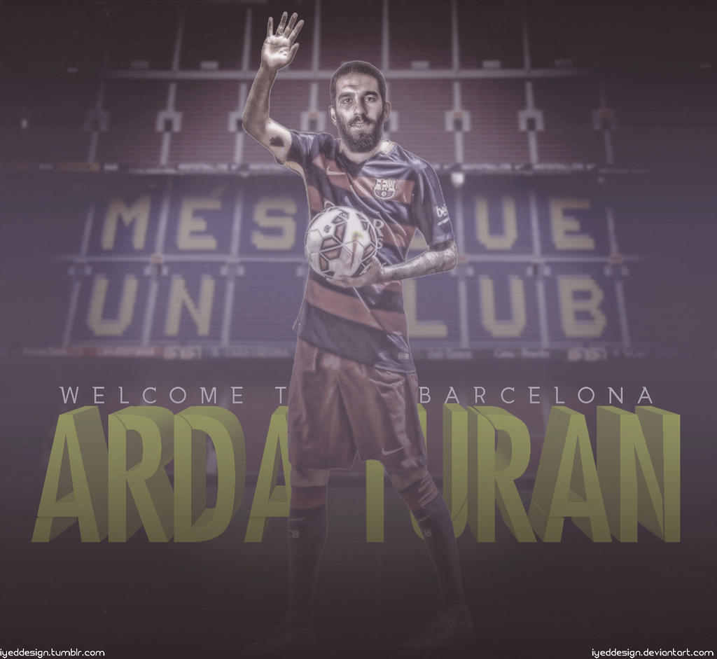 arda turan wallpaper fc barcelona 2015/2016iyeddesign on deviantart
