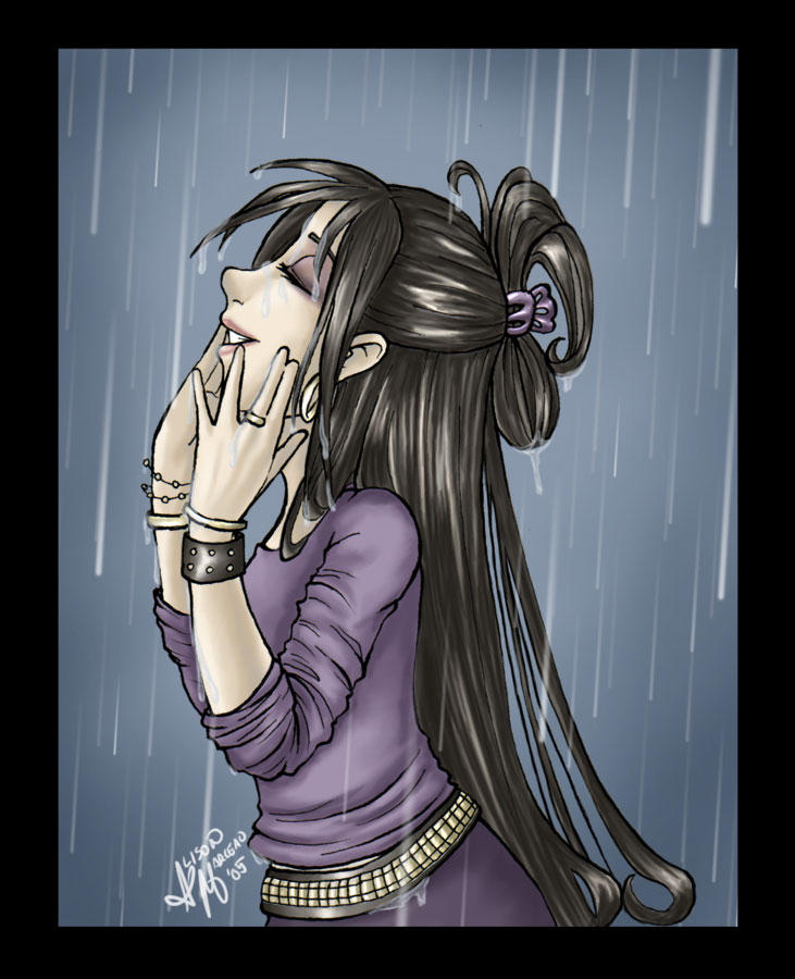 I can see you when it rains. by niteshadepromise