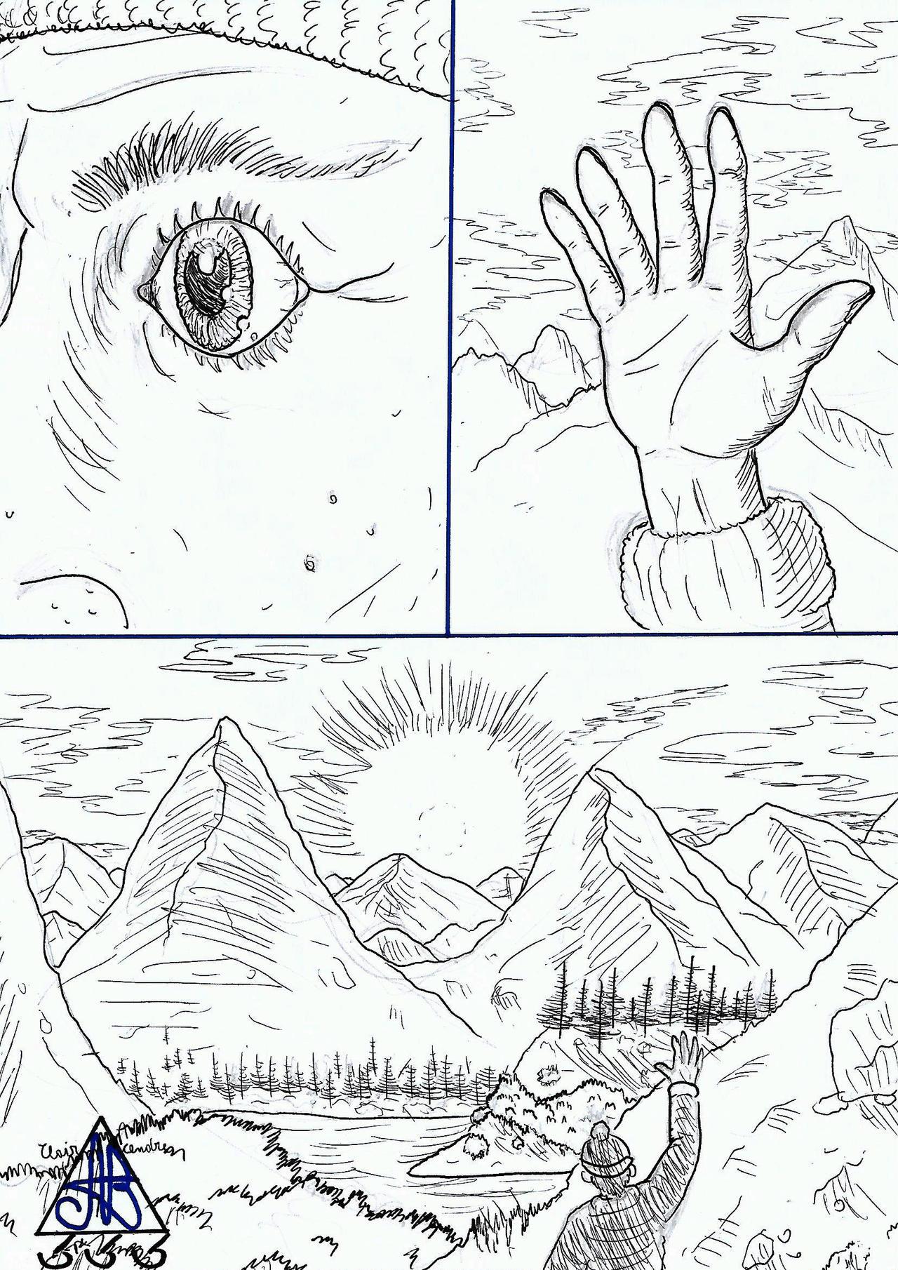 Draw An Eyes-hand-landscape