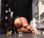 Strolling trough a rainy city (close up)