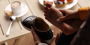 Found inside her shoe