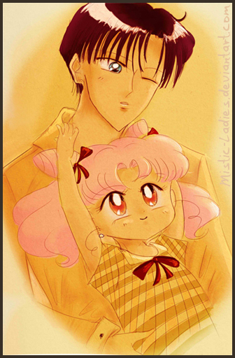 Chibiusa and Mamo-chan by Mistic-Ladies