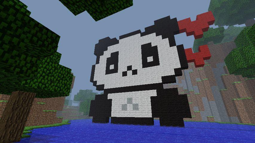 Pixel Art Panda Minecraft