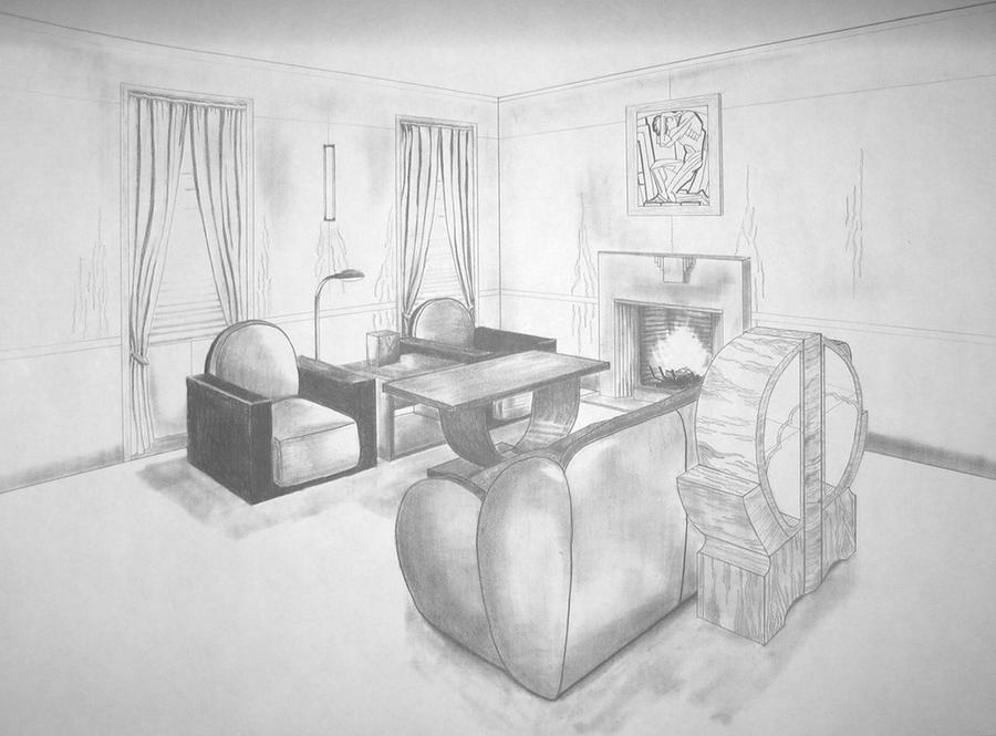 Art Deco Living Room by wetwork777 on DeviantArt