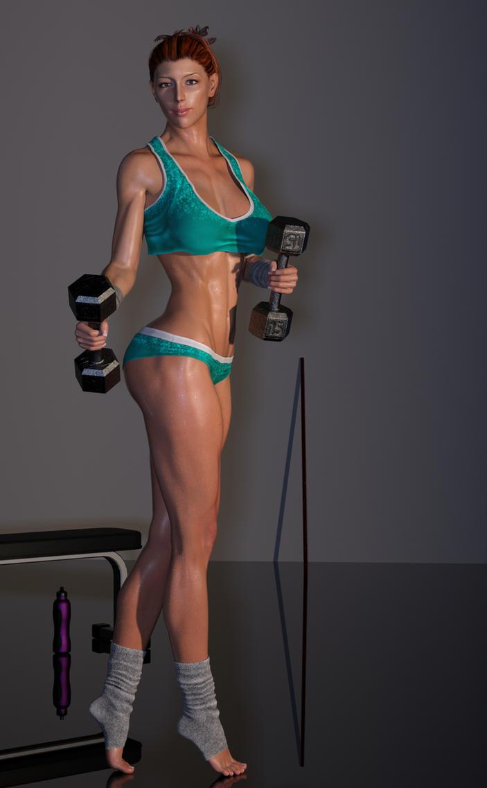 Jennifer Workout Dumbells 1 by gymfritz